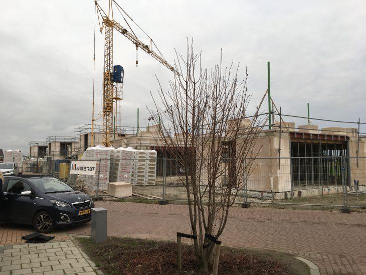 Voortgang van de bouw van de woningen op het project Sedum in Gorinchem