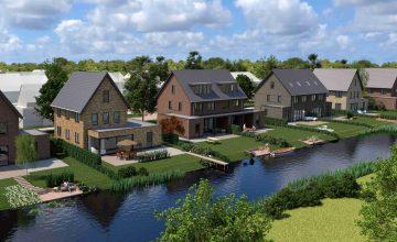Gorinchem, Hoog-Dalem nieuwbouw vrijstaande villa's en twee-onder-een-kap-woningen 1