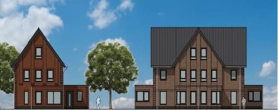 Gorinchem, Hoog-Dalem nieuwbouw vrijstaande villa's en twee-onder-een-kap-woningen