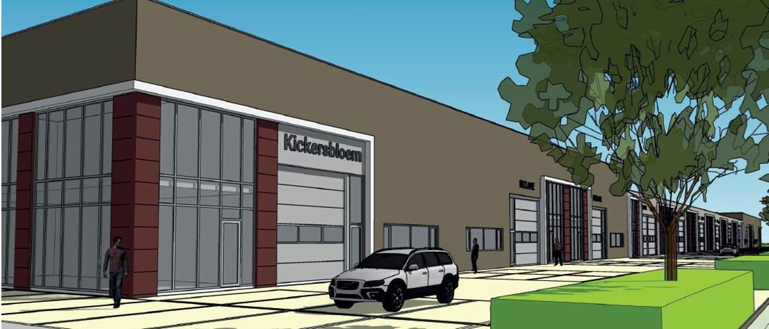Nieuwbouw geschakelde bedrijfsunits Hopperweg Kickersbloem 3 in Hellevoetsluis 2
